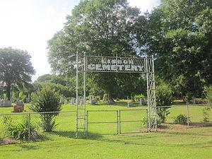 Lisbon, Louisiana -  Lisbon Cemetery is located adjacent to the Methodist Church.