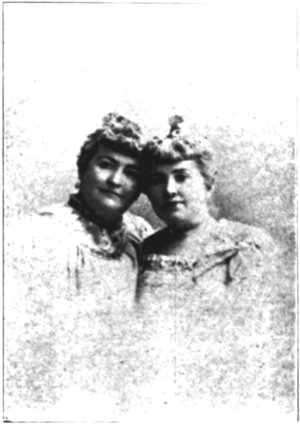 Bangs Sisters - Lizzie and May Bangs, circa 1897