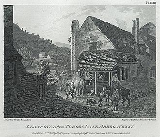 Llanfoist - Llanfoist from Tudor's Gate, John Gardnor (1729-1808)