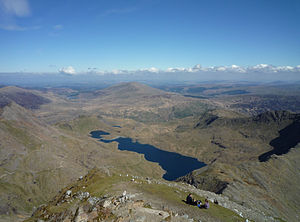Llyn Llydaw - Llyn Llydaw seen from the summit of Snowdon
