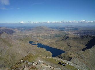 Llyn Llydaw - Llyn Llydaw seen from the summit of Snowdon