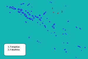 Fangatau - Image: Localización de Fangatau en las Tuamotu