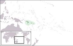 Położenie Wysp Salomona