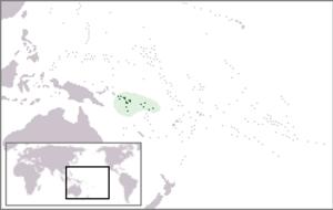 Solomon Islands skink - Map of the Solomon Islands archipelago