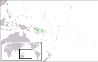 Solomon Islands skink - Map of the Solomon Islands archipelago