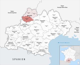 Arrondissement of Cahors Arrondissement in Occitanie, France