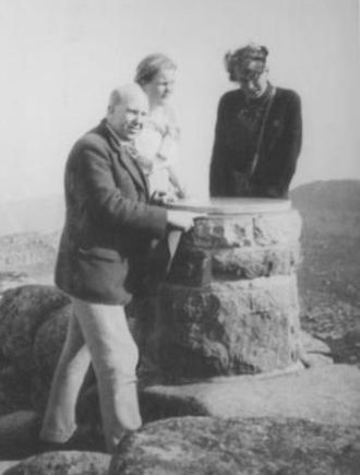 Lochnagar - Scottish tourists on the summit in 1933