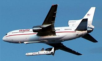 Pegasus (rocket) - Orbital's Lockheed  L-1011 Stargazer launches Pegasus carrying the three Space Technology 5 satellites, 2006