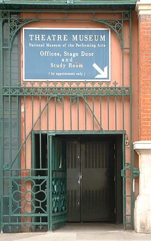 Theatre Museum - The stage door to the museum, before its closure