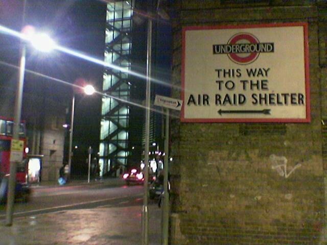 London Underground Air Raid Shelter Sign