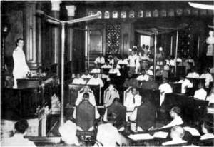 Parliament House (India) - Image: Lord Mountbatten addressing the Chamber of Princes
