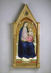 Madonna Enthroned (from a ten-part altarpiece)