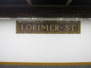 Lorimer Street/Metropolitan Avenue (New York City Subway) - Image: Lorimer Street BMT IMG 9156