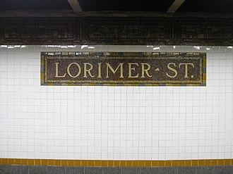 Metropolitan Avenue/Lorimer Street (New York City Subway) - Image: Lorimer Street BMT IMG 9156