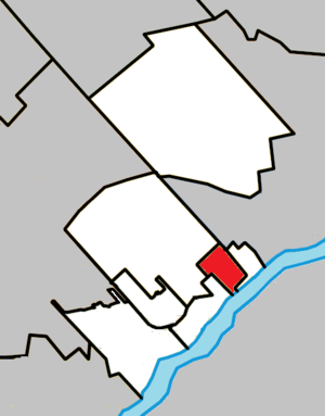 Lorraine, Quebec - Image: Lorraine Quebec location diagram