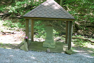 Lost Children of the Alleghenies - The monument in Blue Knob State Park, PA.