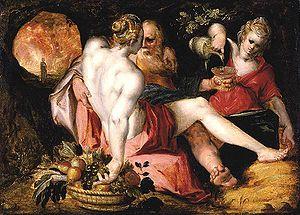 Jan Harmensz. Muller - Jan Harmensz. Muller, Lot and His Daughters, 1600