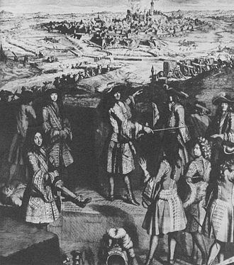 Siege of Mons (1691) - Image: Louis XIV at Mons 1691