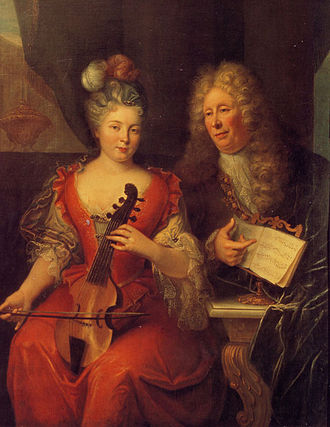 Louis de Caix d'Hervelois - Portrait presumed to be of Louis de Caix d'Hervelois and Marie-Anne de Caix. (French School, 18th Century, Private collection).