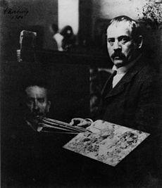 lovis corinth in seinem berliner atelier 1904
