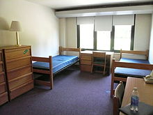 A college dorm room before students have moved in