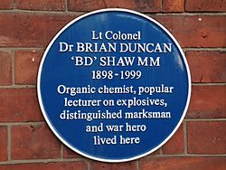 Photo of Brian Duncan Shaw blue plaque