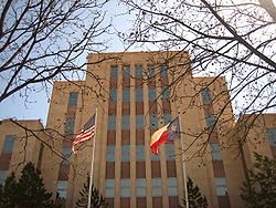 The current Lubbock County Courthouse
