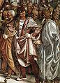 Luca signorelli, cappella di san brizio, predica e punizione dell'anticristo 05.jpg