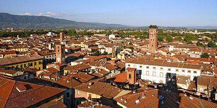 View of Lucca from the Clock Tower Lucca veduta TorreOrologio2.jpg