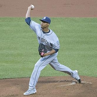 Luis Perdomo (baseball, born 1993) - Perdomo with the San Diego Padres