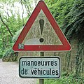 Luxembourg road sign A,21 (vehicle manoeuvres).jpg