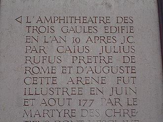 Amphitheatre of the Three Gauls - Stele of the Amphitheatre of the Three Gauls