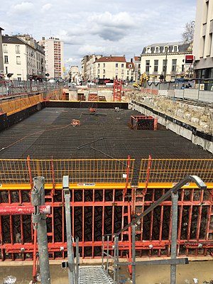 Mairie d'Aubervilliers (Paris Métro) - The station under construction