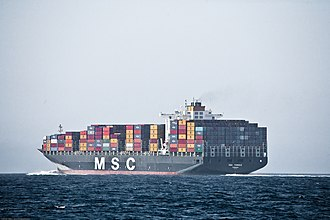 Mediterranean Shipping Company - MSC Tomoko in the Santa Barbara Channel, 2009