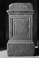 Autel votif dédié à Minerve par Marcus Attius (Ra 318)