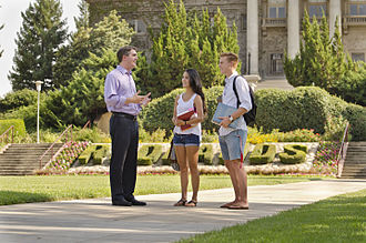 Marc Steinorth - Assemblyman Marc Steinorth talks with students at the University of Redlands.
