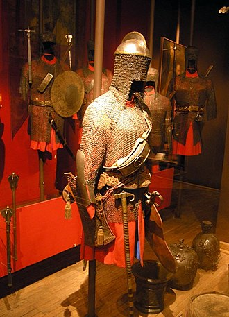 Chain mail - Mail armour and equipment of Polish medium cavalryman, from the second half of the 17th century