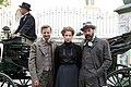 Madame Nobel - film set Vienna May 2014 Birgit Minichmayr Sebastian Koch Philipp Hochmair 3.jpg