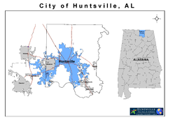 Location of Huntsville, Alabama