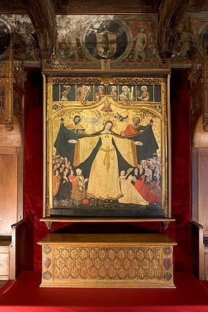 Hans Clemer - Altarpiece of Our Lady of Mercy in the Cavassa house, Saluzzo (1499/1500)