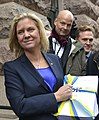 "Magdalena Andersson during the ""budget walk"" to Parliament, Oct 23, 2014 08.jpg"
