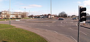 Magic Roundabout (Swindon) - The large roundabout and two mini roundabouts
