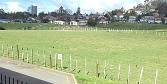Mount Albert Grammar School - This is a photo of the mags farm as seen from the upper floor of D-Block