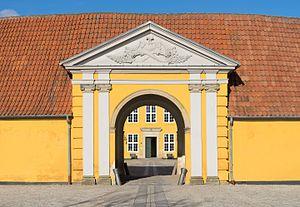 image of Main entrance Roskilde Palace Denmark
