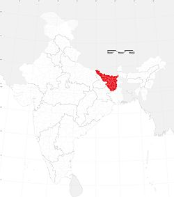 Maithil-speaking region of India