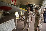 Maj. Gen. Charles L. Hudson, commanding general of Marine Corps Installations Pacific, visits the historic Zero Hangar as part of his visit to Marine Corps Air Station Iwakuni, Japan, April 3, 2014. 140403-M-ZV462-001.jpg