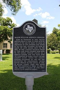 Photo of William Addison Spencer black plaque