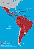 Malaria western hemisphere