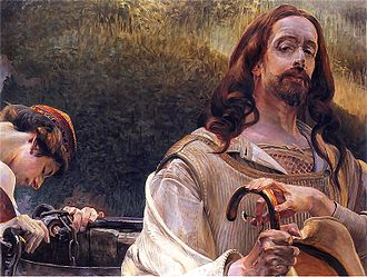 Jacek Malczewski - Image: Malczewski Jacek Chrystus i Samarytanka 2