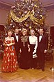 Mamie Eisenhower, David Frost, Pat Nixon, Mona Frost, and President Richard Nixon in Front of a White House Christmas Tree.jpg